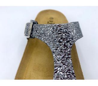 Sandalia de pala camel dos hebillas